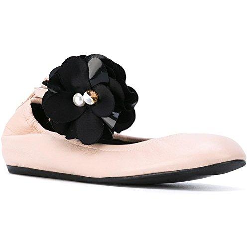 Lanvin Ballerina Flats - LANVIN Women's Powder Lambskin Ballerina - Moccasin Shoes - Size: 36 EU