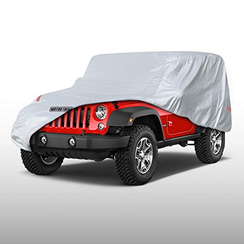 - Motor Trend OV-740 Weather Custom Fit Cover for 2 Door Jeep Wrangler (1987-2019 JK JL CJ YJ TJ) -Waterproof Windproof