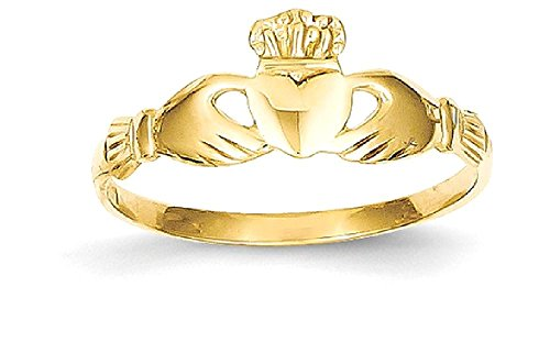 ICE CARATS 14k Yellow Gold Irish Claddagh Celtic Knot Band Ring Size 7.00 Fine Jewelry Gift Set For Women Heart