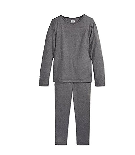 32 Degrees Heat Boys Long Sleeve Crew Neck and Legging Set Dark Heather Charcoal ()