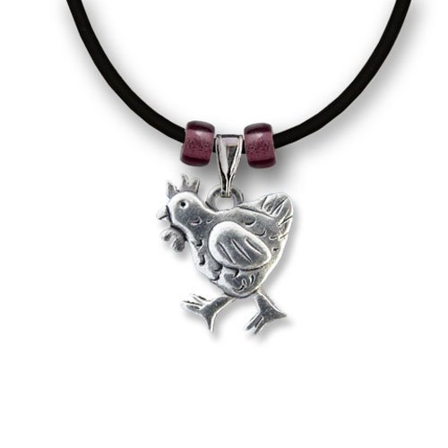 Pewter Chicken Necklace by The Magic ()