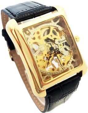 Trafalgar THE LUXURY TIME Collection - Reloj mecánico de Cuerda Manual para Hombre con Correa de Piel, Color Dorado: Amazon.es: Relojes