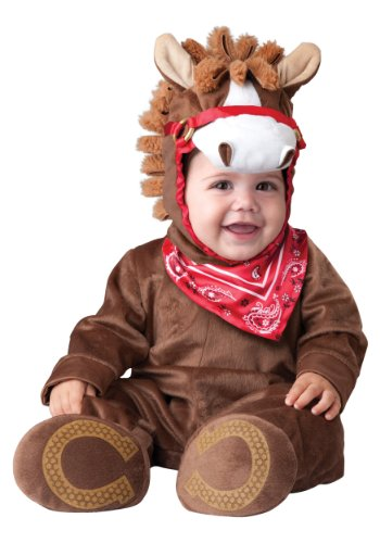 InCharacter Baby Boy's Playful Pony Costume, Brown, Small (6-12months)]()