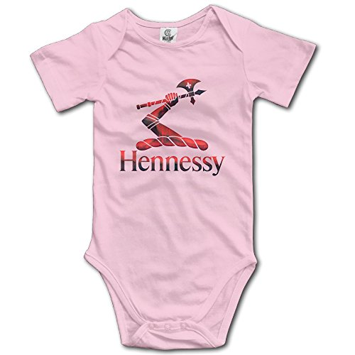 red-metal-hennessy-xo-logo-baby-romper-short-sleeve-babysuit-baby-onesie-for-boy-girl-pink-6-m