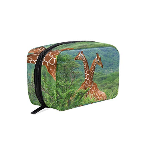 Giraffe Hobo (Makeup Organizer Giraffe Love Womens Zip Toiletry Bag Large Case Cosmetic Bags)