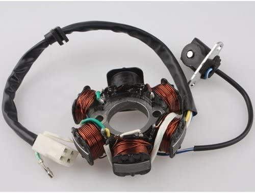 DEEPSOUND Magneto Stator 6-coil 5-wire for 50cc 70cc 90cc 110cc 125cc ATV Quad Go Kart