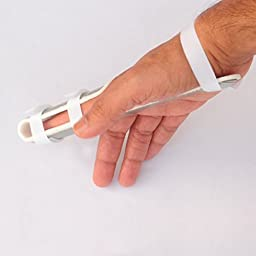 Finger Extension Splint For Finger Knuckle Immobilization |Soft Padded Interior & Protective Rigid Exterior with Ventilation…