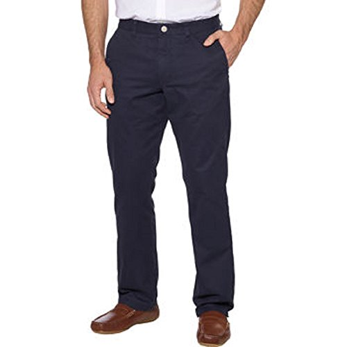 Tailor Vintage Men's Flat Front Straight Fit Washed Chino Pant (40x30, -