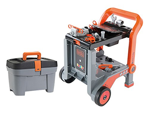 Smoby Black  Decker Devil in Tool Workbench Trolley Play Set by