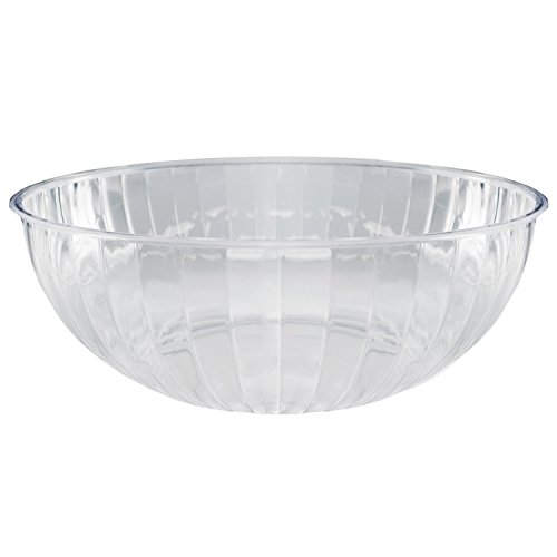Plastic Bowl Salad Clear - Party Essentials N674563 Hard Plastic 192-Ounce Serving Bowl, Clear
