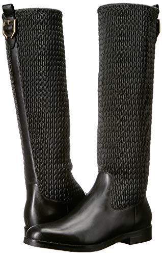 Leather Stretch Grand Mid Calf Black Lexi Boot Cole Women's Haan qwBHaIz