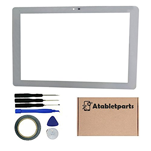 Atabletparts Replacement White Touch Screen Digitizer for Insignia Flex NS-P10A6100 10.1 Inch Tablet (Insignia Replacement Screen)
