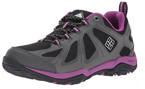 Columbia Women's Peakfreak Xcrsn II Xcel Low Outdry Hiking Shoe, Black, Intense Violet, 9 B US by Columbia
