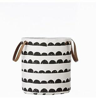 Ferm Living Korb Mit Lederhenkeln Aus 100% Baumwolle Half Moon Basket