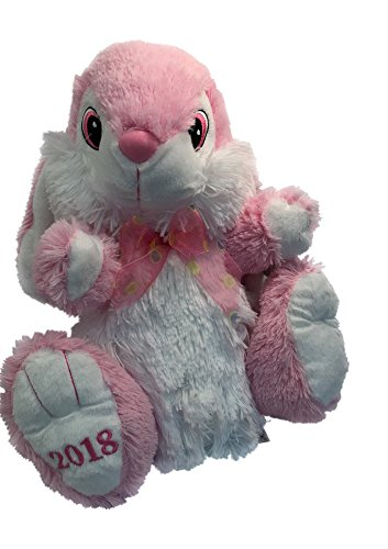 "2018 Soft Plush Easter Bunny - 13"" (Pink)"