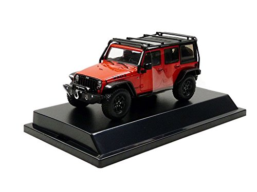 Greenlight 86088 2015 Jeep Wrangler Unlimited Willy's Wheeler Edition 1:43 Scale Sunset Orange Metallic with Off-Road Bumpers and Roll Cage