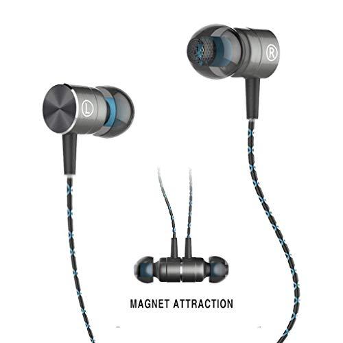 Earbud,TRONOE Sport HIFI In-Ear Earbuds Heaphones Headset Earphones with 3.5mm Metal Housing Magnetic Best Wired Bass Stereo Headset Built-in Mic/Hands-free/Volume Control. (GREEN)