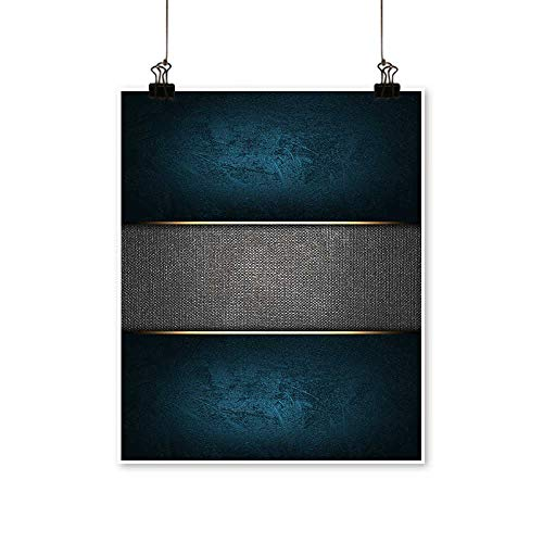 Artwork for Home Decorations The Template for The Inscription Blue Background with a Metal nameplate. Home Decor Wall Art,12