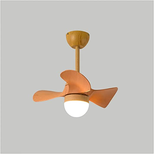 Ceiling Fans With Lights Small Fan Light Dining Room Ceiling Fan Light Three Color Variable Light Frequency Conversion Modern Simplicity Color Orange Amazon Ca Home Kitchen