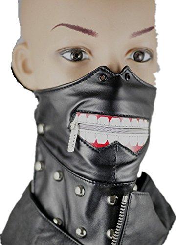 Qiu ping Men and women new ghoul mask non-mainstream willow turban punk teeth zipper mask by Qiu ping
