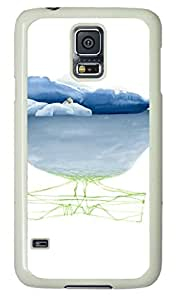 Samsung Galaxy S5 PC Hard Shell Case Glacier White Skin by Sallylotus