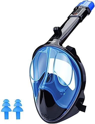 Máscara de Buceo 180° Gafas de Snorkel Panorámica Gafas Buceo de Cara Completa Gafas de Bucear