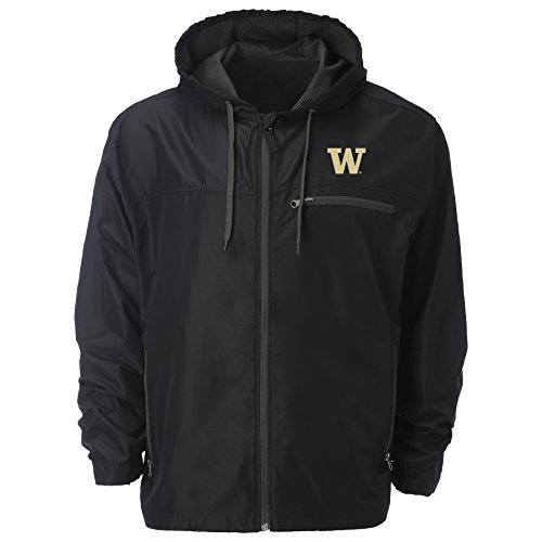 - Ouray Sportswear NCAA Washington Huskies Men's Venture Windbreaker Jacket, Black, X-Large