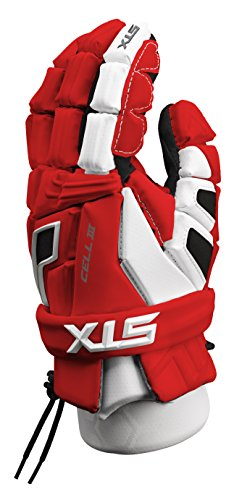 STX Lacrosse Cell 3 Gloves, Red/White, 12-Inch