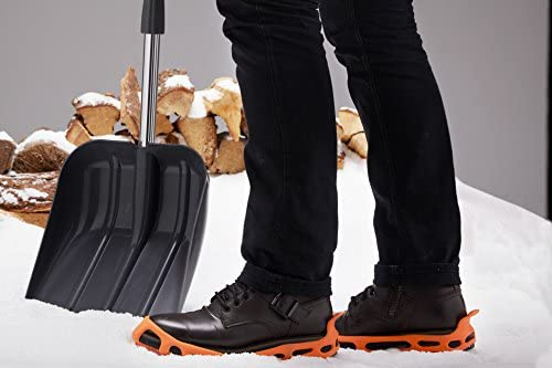 Outdoor or Slippery Terrain Power Ice Cleats Perfectly Fit to Shoes and Boots for Safe Activities in Winter Black Color