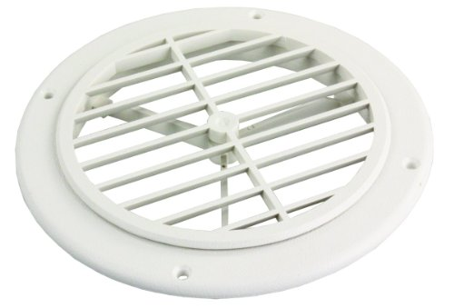 JR Products GRILL2-A Polar White Ceiling Grill ()