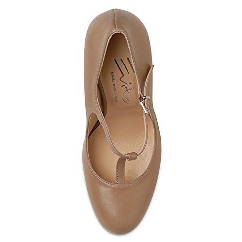 Scarpe Col Donna Evita marrone Shoes Viola Tacco 5OxqqE0Cw