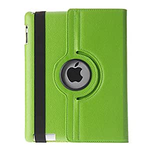 360¡ãRotating Tabby Pattern PU Full Body Case with Stand for iPad 2/3/4 (Assorted Colors) , Blue