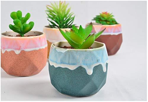 Succulent Plants, Mini garden, Lovely flowerpot, Ceramic planter, Home Decor, Home Garden, Gift for her, Geometric flower pot
