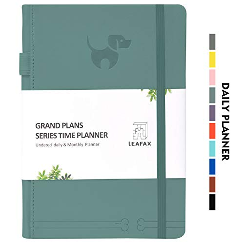 Undated Daily Planner-Agenda Book, Hourly/Day/Weekly/Monthly Planner, Personal Organizer, to-Do List- 240 Pages 5.8