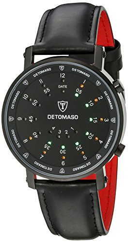 DETOMASO Men's G-30730-BK SPACY TIMELINE 2 Binary  Trend schwarz/schwarz Digital Display Quartz Black - Fashion Trend Timeline