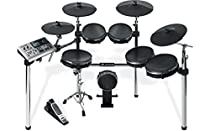 Alesis DM10 X Mesh Kit | Premium Ten-Piece Professional Electronic Drum Set with Chrome XRack (Mesh Drum Pads)