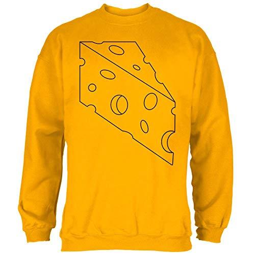 Halloween Swiss Cheese Food Costume Mens Sweatshirt Gold LG