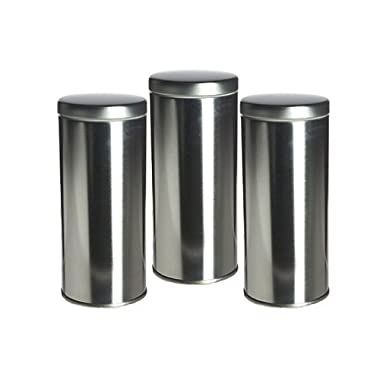Science Purchase 6  Tall Tea Tin with Airtight Lids - 3 Pack