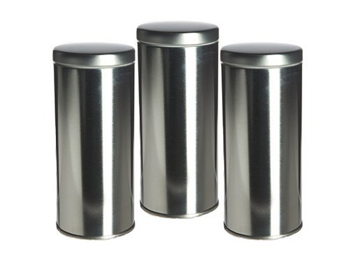 """Science Purchase 6"""" Tall Tea Tin with Airtight Lids - 3 Pack"""