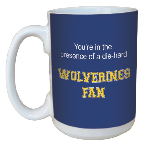 Tree-Free Greetings lm44489 Wolverines College Football Fan Ceramic Mug with Full-Sized Handle, 15-Ounce