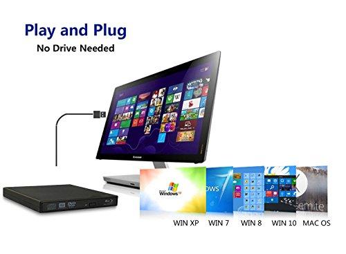 tengertang USB External blu-Ray Drive, Portable DVD Burner,BD-ROM,DVD/CD-RW/ROM Writer,Support xp/Win/ Linux System Related Desktop, Notebook, etc.(Black) by tengertang (Image #1)