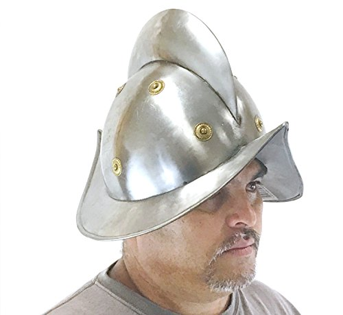 Comb Morion Armored Helmet - Medieval Costume
