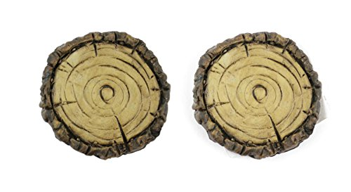 Faux Stepping Stones - Touch of Nature 2-Piece Miniature Garden Faux Wood Stepping Stones, 1.5-Inch