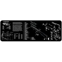 TekMat Ruger Mini 14 Cleaning Mat / 12 x 36 Thick, Durable, Waterproof / Long Gun Cleaning Mat with Parts Diagram and Instructions / Armorers Bench Mat / Black