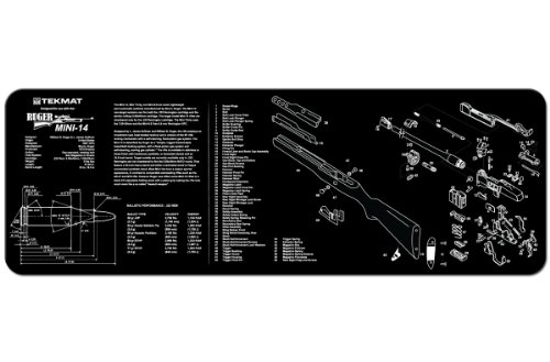 TekMat Gun Cleaning Mat for use with Ruger Mini-14 (Best Mini 14 Magazines)