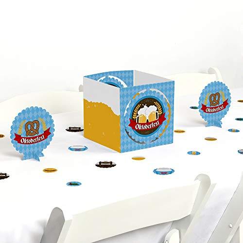 Big Dot of Happiness Oktoberfest - German Beer Festival Centerpiece & Table Decoration Kit ()