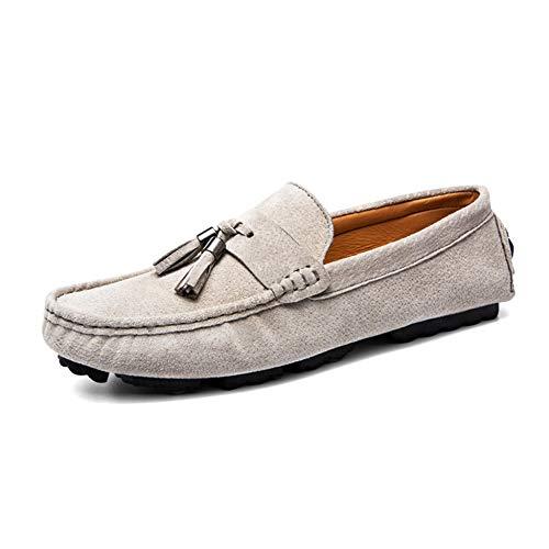 Zapatos Guisantes Suaves Beige De Casuales Hombre Conducción Primavera Dan Transpirables Mocasines RBOqdpnwB7