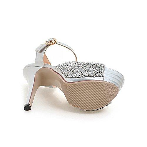 EU Ballerine SLC03991 35 AdeeSu Argento Silver Donna TBP0q0