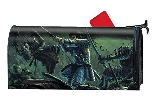Flag Battle Square (Calibre Life Dark Battle Magnetic Mailbox Cover Welcome Home Makeover Standard)