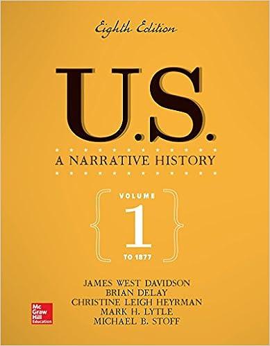 Amazon us a narrative history volume 1 to 1877 us a narrative history volume 1 to 1877 8th edition fandeluxe Gallery